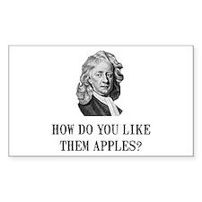Sir Isaac Newton Apple Decal