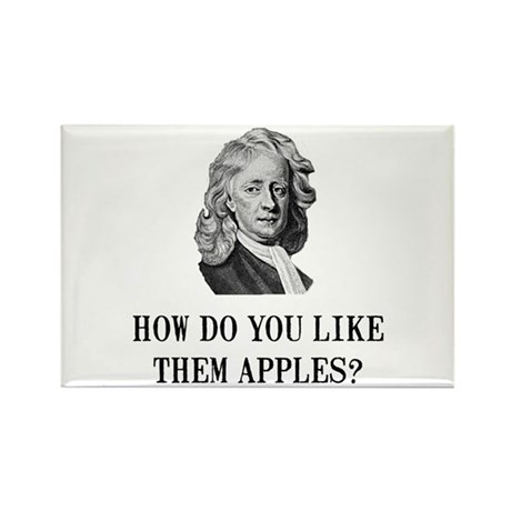 Sir Isaac Newton Apple Rectangle Magnet (100 pack)