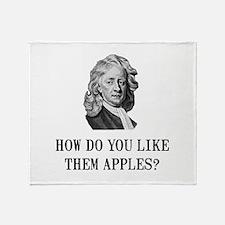 Sir Isaac Newton Apple Throw Blanket