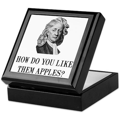 Sir Isaac Newton Apple Keepsake Box