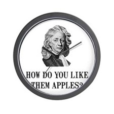 Sir Isaac Newton Apple Wall Clock