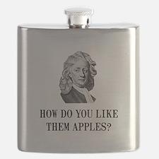 Sir Isaac Newton Apple Flask