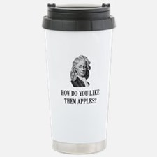 Sir Isaac Newton Apple Travel Mug