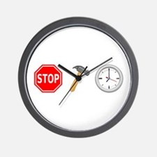 Stop Hammer Time Wall Clock