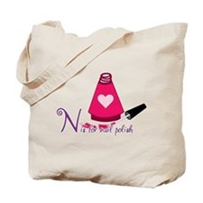 N is for Nail Polish Tote Bag