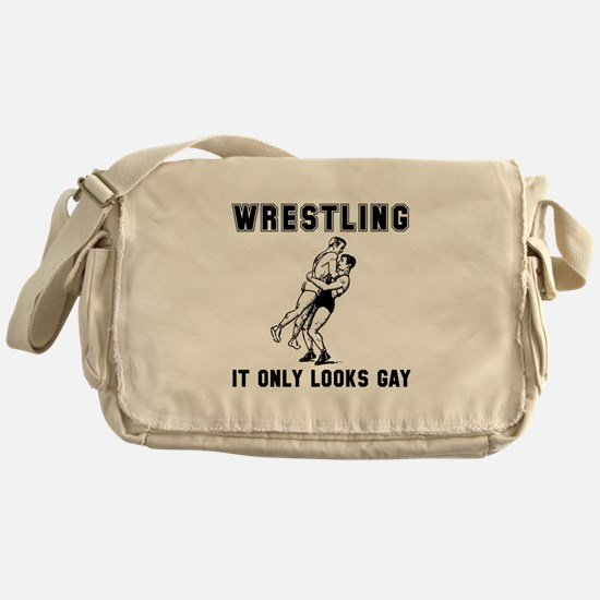 Wrestling Looks Gay Messenger Bag