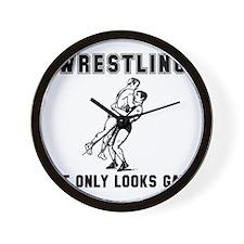 Wrestling Looks Gay Wall Clock