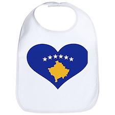 Kosovo flag heart Bib