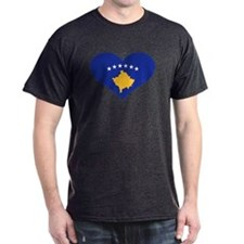 Kosovo flag heart T-Shirt