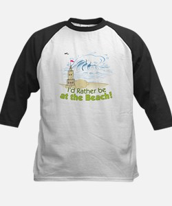 I'd rather be at the Beach! Kids Baseball Jersey