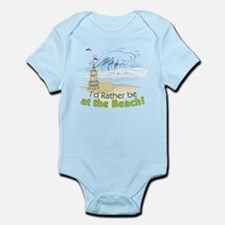I'd rather be at the Beach! Infant Bodysuit