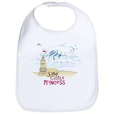 Sand Castle Princess Bib