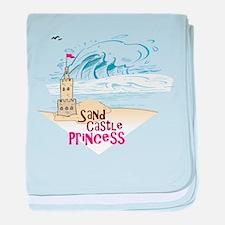 Sand Castle Princess baby blanket