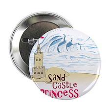 """Sand Castle Princess 2.25"""" Button"""