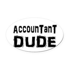 accountant1.png Oval Car Magnet