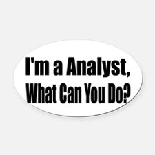 analyst13.png Oval Car Magnet