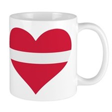 Latvia flag heart Mug