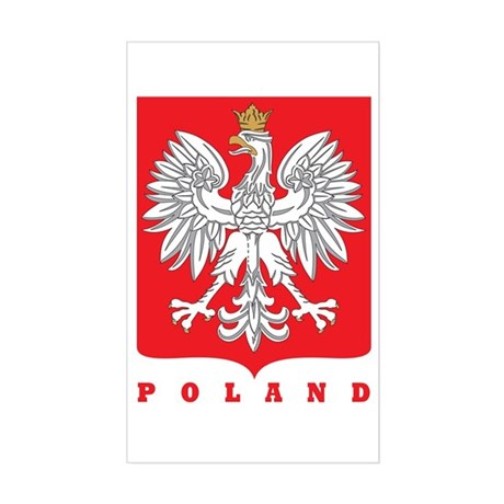 Polish Main Eagle Crest Rectangle Sticker