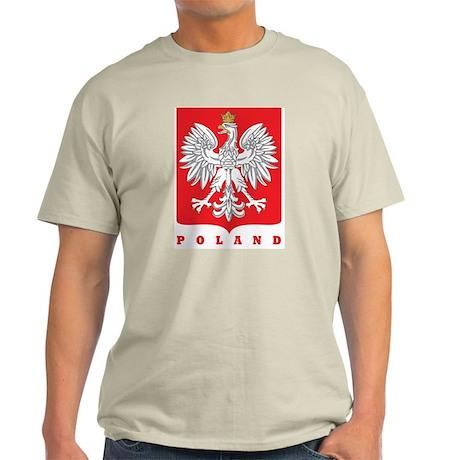 Polish Main Eagle Crest Ash Grey T-Shirt