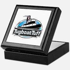 Breast Cancer Awareness Tugboat Keepsake Box