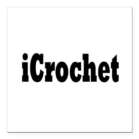 "crochet1.png Square Car Magnet 3"" x 3"""