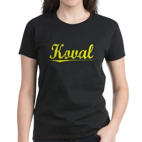 Koval, Yellow Women's Dark T-Shirt