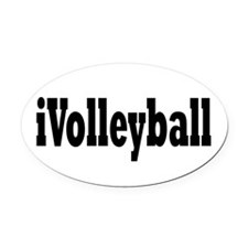 volleyball2.png Oval Car Magnet