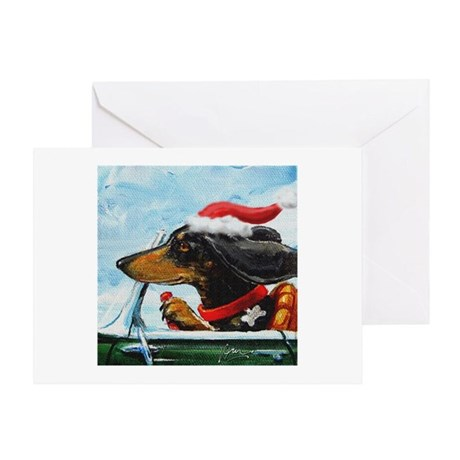 Holiday Dachshund Greeting Card