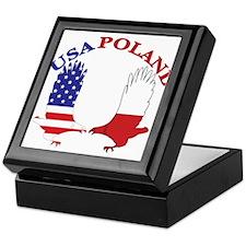 Poland USA Keepsake Box