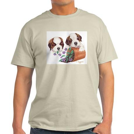 St Bernard Puppies Ash Grey T-Shirt