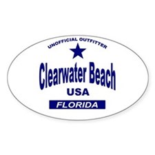 Clearwater Beach Oval Decal