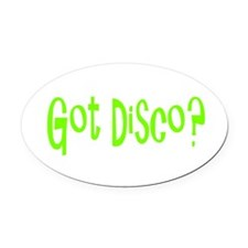 disco45.png Oval Car Magnet