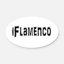 Unique Flamenco Oval Car Magnet