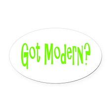 modern45.png Oval Car Magnet