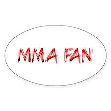 MMA Fan Oval Decal