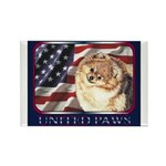 Pomeranian United US Flag Rectangle Magnet (100 pa