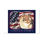 Pomeranian United US Flag Mini Poster Print