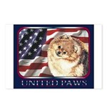 Pomeranian United US Flag Postcards (Package of 8)