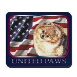 Pomeranian United US Flag Mousepad