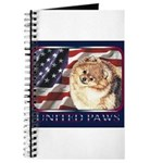 Pomeranian United US Flag Journal