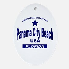 Panama City Beach Oval Ornament