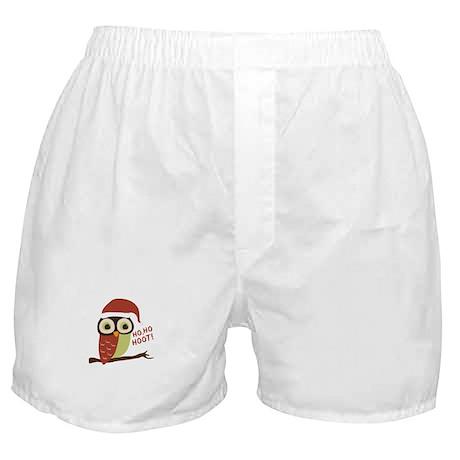 Santa Owl Christmas Boxer Shorts