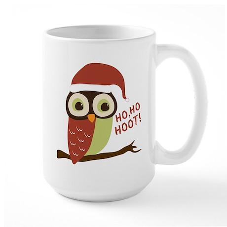 Santa Owl Christmas Large Mug
