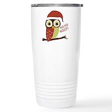 Santa Owl Christmas Travel Coffee Mug