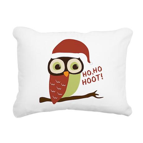 Santa Owl Christmas Rectangular Canvas Pillow