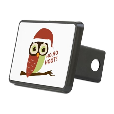 Santa Owl Christmas Rectangular Hitch Cover