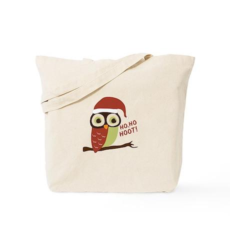 Santa Owl Christmas Tote Bag