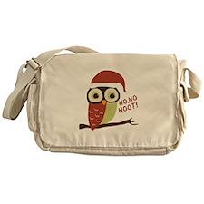 Santa Owl Christmas Messenger Bag