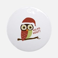Santa Owl Christmas Ornament (Round)