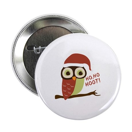 "Santa Owl Christmas 2.25"" Button (100 pack)"
